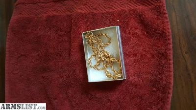 For Sale/Trade: 24k gold rope 5mm braid