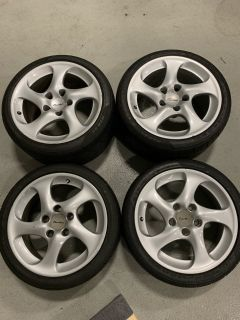 Porsche 996TT Wheel Set w/Tires