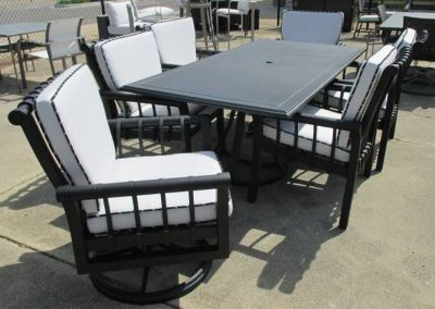 Black and White Outdoor Dining Set - Merchandise Mart Sample