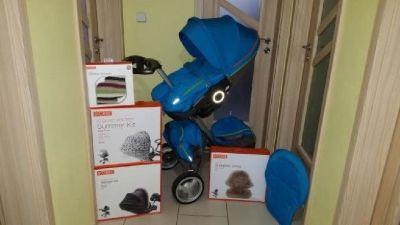 stokke Xplory complete baby stroller V5 in Navy blu