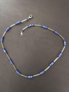 Blue and green beads