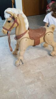 Vintage marx marvel the mustang ride on horse