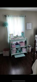 Mint Green Baby changing table