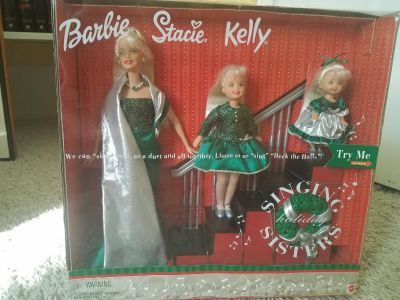 Singing holiday sisters barbie collectable