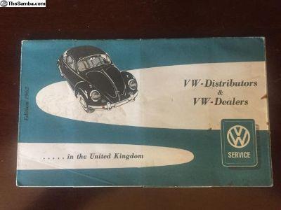 Volkswagen VW Motors Ltd Beetle List Of VW Distrib