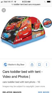 Cars Bed Tent
