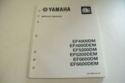 Sell YAMAHA GENERATOR TECHNICAL SERVICE MANUAL EF4000DM EF5200DM/DEM EF6600DM/DEM motorcycle in Sunbury, Pennsylvania, United States, for US $39.95