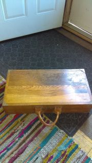 Vintage wood salesman case