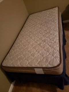 Twin bed, box spring, frame
