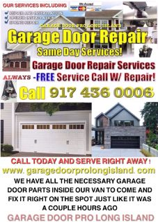 Professional and reliable garage door repair and installation service New York and Long Island