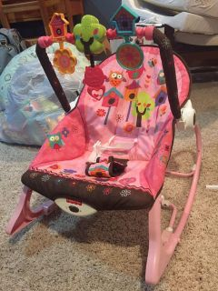Fisher Price Infant-to-Toddler Rocker with vibrations. Excellent condition just needs new batteries. Smoke free pet free home