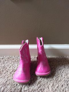 Hot pink Baby boots size 3