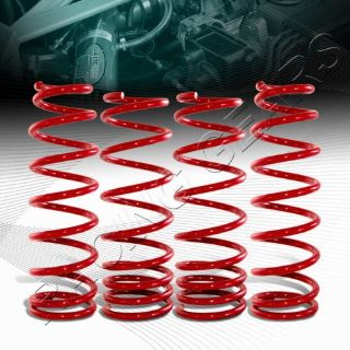 Find Suspension Red Coil Lowering Lower Springs Kit Fit 92-95 Honda Civic Front+Rear motorcycle in Walnut, California, United States