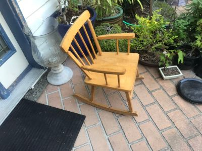 Child sized rocking chair