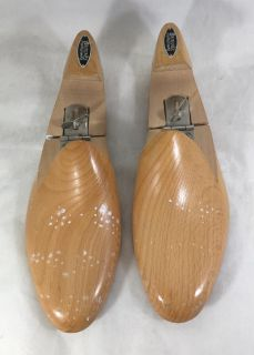 Shoe Form Tree Pair Britches of Georgetown Wood 10C Mens Adjustable Shaper USA
