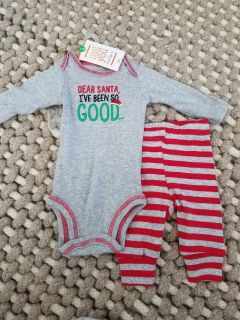 New Just One You by Carter's Christmas Outfit Sz Newborn