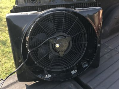 1956 Belair Radiator , Grill and Electric Fan