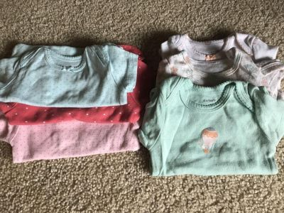 Six 3 month Carters onesies