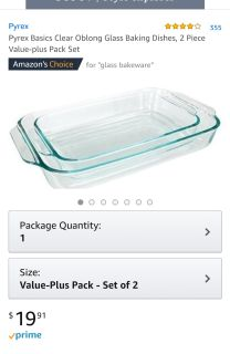 ISO Clear Glass Baking Dishes