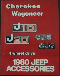 Buy 1980 Jeep Cherokee Wagoneer J10 J20 CJ-5 CJ-7 Accessories Brochure motorcycle in Holts Summit, Missouri, United States, for US $17.80
