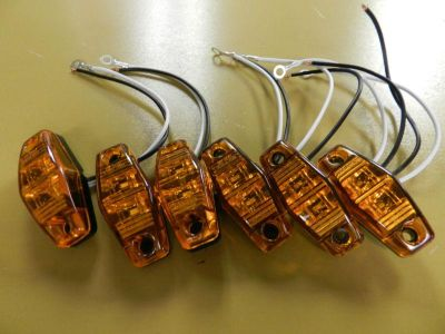 Buy (6) Amber LED Camper Trailer Light 2 Diode surface mount Clearance Optronics motorcycle in Springfield, Missouri, US, for US $24.00