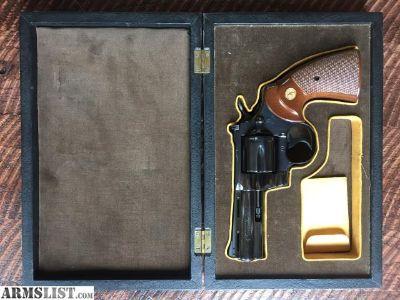 For Sale: 1976 Colt Python .357 4 Barrel Blue
