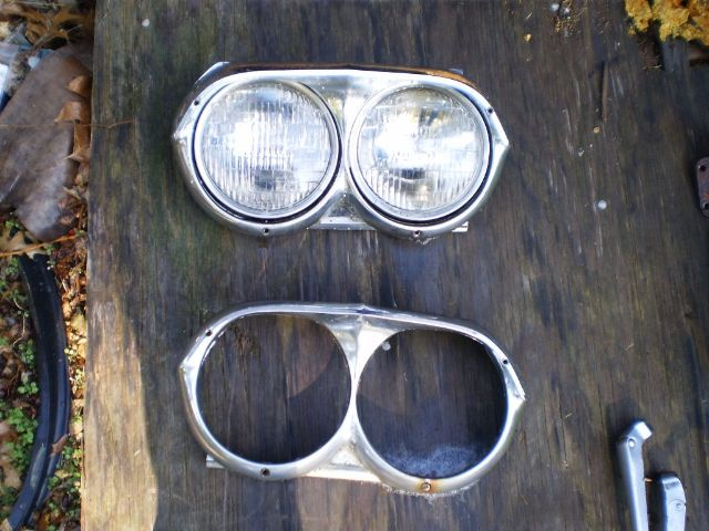1962 Pontiac Bonneville Grand Prix Headlight Bezels Pair