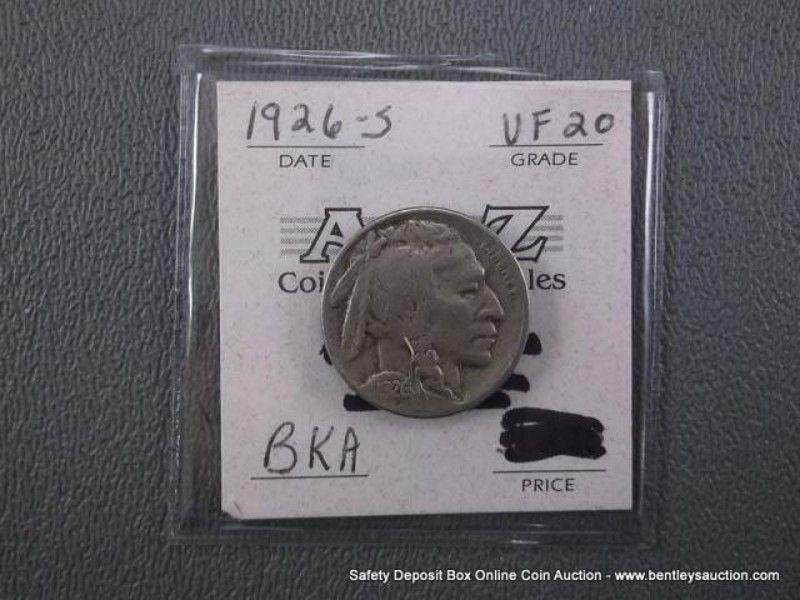 VF 20 BKA INDIAN HEAD/BUFFALO NICKEL-1926-S - Claz org