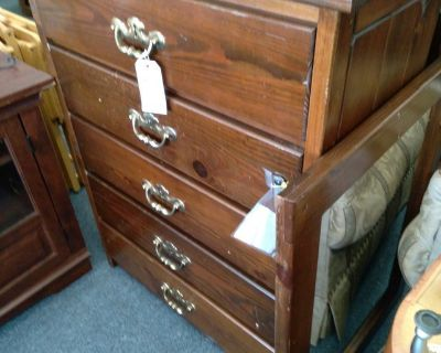 Pine Chest of Drawers with Mirror