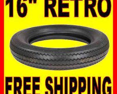 "Shinko 16"" Mt90-16 Retro Blackwall Front Or Rear Tire Harley Bobber Custom"
