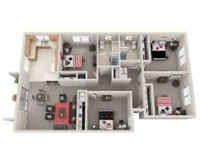 4 Bedroom 2 bathroom apartment Chico Ca