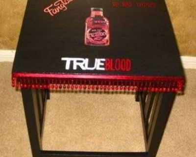 CUSTOM TRUE BLOOD Media Room Couch Side Table