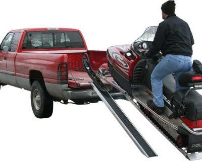 8' Whiteout Aluminum Snowmobile Ramps-truck-trailer-usa (sno-9626-046)
