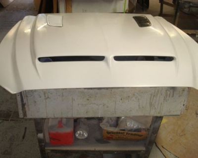 Fiberglass Ram Air Bolt-on Mustang Hood 2015-16, Uses Front Latch And Hinges.