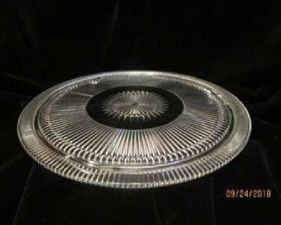 Vintage Cut Glass Footed Cake Plate