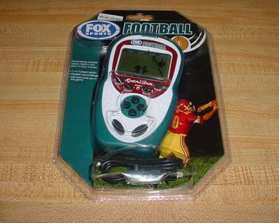 New Sealed Fox Sports Excalibur Football Electronic Hand-Held Game. Hard Hitting Football Action Right In The Palm Of Your Hands. 1 Or...