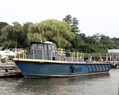 1971 45' x 14.5' x 4' Alum Cam Craft Crew Boat for sale