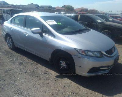 Salvage Silver 2014 Honda Civic Sedan