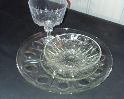 Set for 8 people Crystal dinnerware