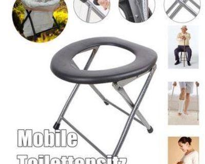 Folding Portable Toilet Seat Commode for Pregnant Women & Elderly