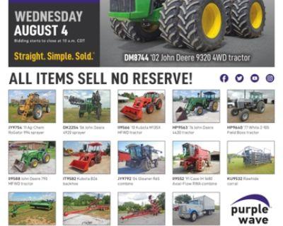 August 4 ag equipment auction