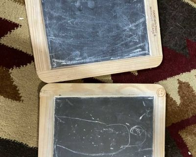 Two small chalkboards