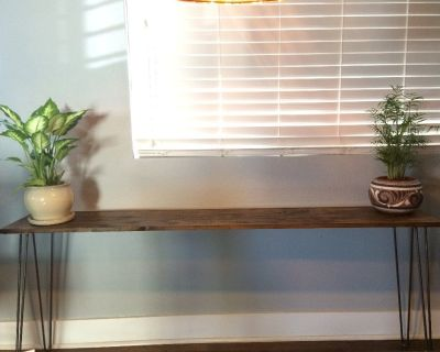 Rustic Wood Sofa Table