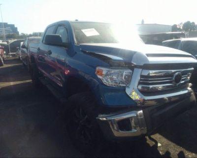 Salvage Blue 2017 Toyota Tundra 2wd