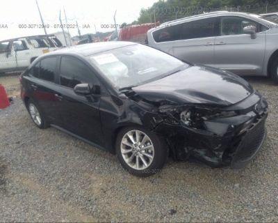 Salvage Black 2021 Toyota Corolla