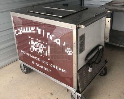 Nelson Ice Cream / Slush Freezer Wall Concession Pushcart