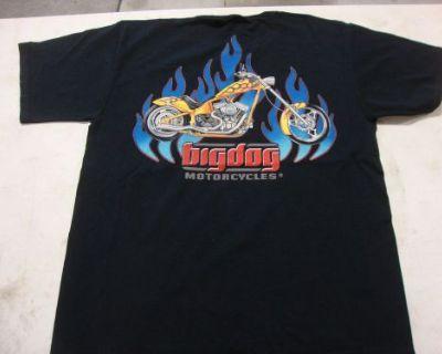 Big Dog Motorcycles Flame Chopper Shirt 3xl W/ Front & Back Design Short Sleeve