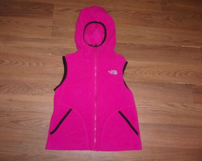 Girl size S small North Face fleece hooded vest