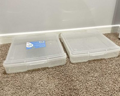 Set of 2 New Storage Containers