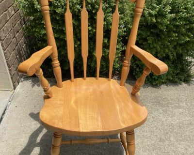 A beautiful solid wood captain / side chair